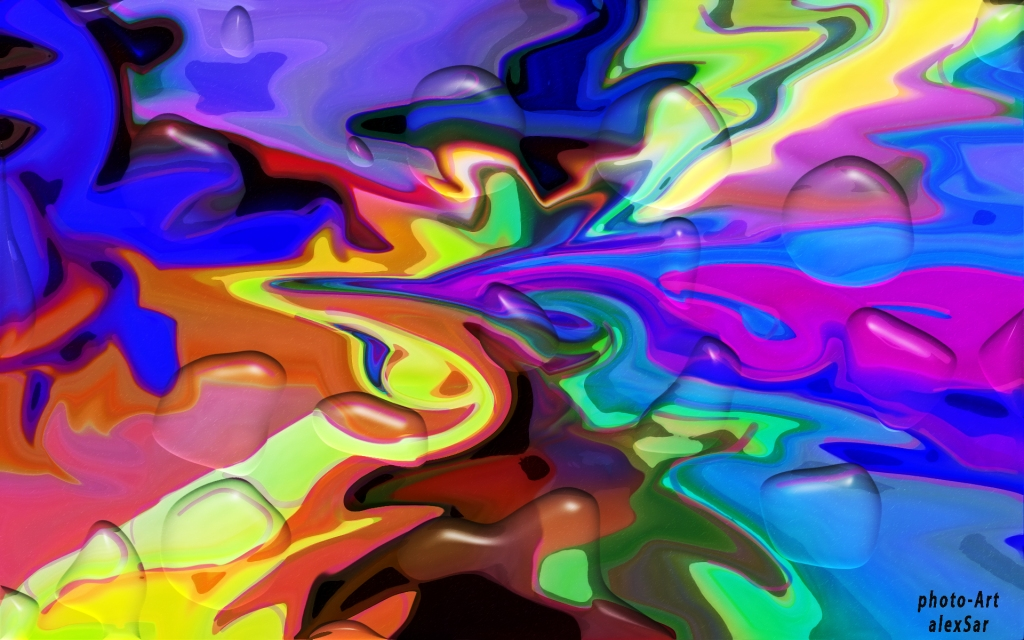 Image is of a colorful abstract painting.